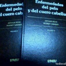 Libros de segunda mano: ENFERMEDADES DEL PELO Y DEL CUERO CABELLUDO VOLUMES II Y III. A. ROOK; R. DAWBER. Lote 127210531