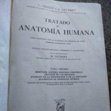 Libros de segunda mano: TRATADO DE ANATOMIA HUMANA -- L. TESTUT Y A. LATARJET -- TOMO 3 -- SALVAT EDITORES 1958 --. Lote 127547035