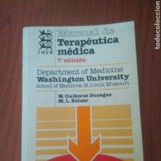 Libros de segunda mano: MANUAL TERAPEUTICA MEDICA 7 EDICION,WASGINTON UNIVERSITY.VER FOTOS.MASSON-SALVAT.FER.MEDICINA. Lote 127642422