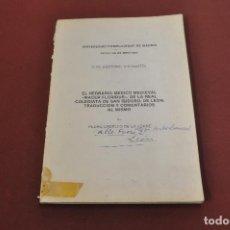 Libros de segunda mano: EL HERBARIO MEDICO MEDIEVAL - MACER FLORIDUS - TESIS DOCTORAL PEDRO CABELLO - MSB. Lote 127994211