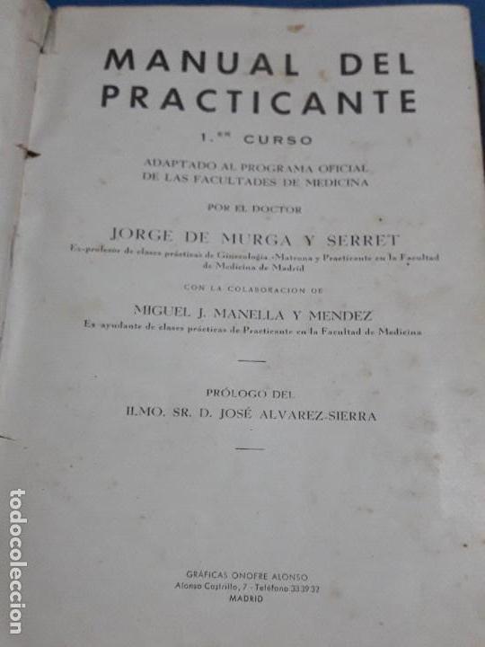 Libros de segunda mano: ANTIGUO LIBRO MANUAL DEL PRACTICANTE PRIMER CURSO 1957 - Foto 2 - 128822863