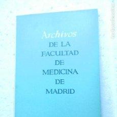 Libros de segunda mano: ARCHIVOS DE LA FACULTAD DE MEDICINA DE MADRID Nº 1 JULIO 1970.. Lote 129403191