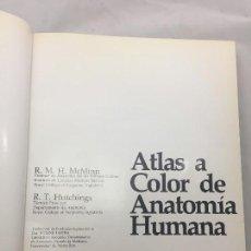 Libros de segunda mano: ATLAS A COLOR DE ANATOMÍA HUMANA MCMINN HUTCHINGS YEAR BOOK 1980 BUEN ESTADO. Lote 129689243