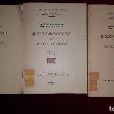 Libros de segunda mano: DICCIONARI BIOGRÀFIC DE METGES CATALANS.. Lote 130054171