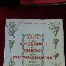 Libros de segunda mano: OBRAS DE INTERÉS MEDICO EN LA BIBLIOTECA DE LOS FILIPINOS DE VALLADOLID (HASTA 1950). Lote 130432108
