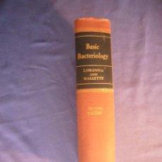 Libros de segunda mano: CARL LAMANNA: - BASIC BACTERIOLOGY. ITS BIOLOGICAL AND CHEMICAL BACKGROUND - (1959) (MEDICINA) . Lote 130690374