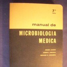 Libros de segunda mano: ERNEST JAWETZ: - MANUAL DE MICROBIOLOGIA MEDICA -.(MEXICO, 1975) (MEDICINA). Lote 130690664