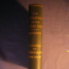 Libros de segunda mano: J. P. MCMURRICH:- THE DEVELOPMENT OF THE HUMAN BODY. A MANUAL OF HUMAN EMBRIOLOGY- (1909) (MEDICINA). Lote 130782436