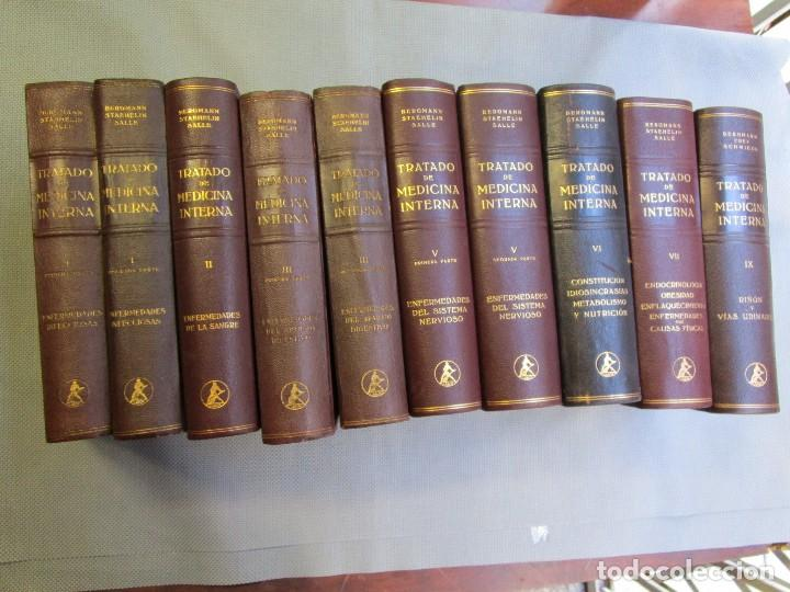 TRATADO DE MEDICINA INTERNA - STAEHELIN BERGMANN VV.AA - EDI LABOR 1944/56 - 9 TOMOS + INFO Y FOTOS. (Libros de Segunda Mano - Ciencias, Manuales y Oficios - Medicina, Farmacia y Salud)