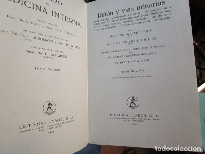 Libros de segunda mano: TRATADO DE MEDICINA INTERNA - STAEHELIN BERGMANN VV.AA - EDI LABOR 1944/56 - 9 TOMOS + INFO Y FOTOS. - Foto 3 - 130864428