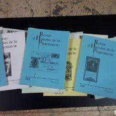 Libros de segunda mano: REVUE D'HISTOIRE DE LA PHARMACIE.. Lote 131432178
