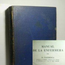 Libros de segunda mano: MANUAL DE LA ENFERMERA. USANDIZAGA M. 1943. Lote 131505510