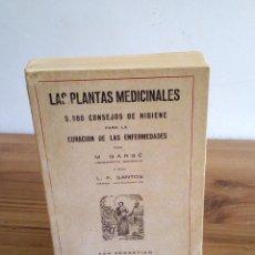 Libros de segunda mano: LAS PLANTAS MEDICINALES. M. BARBÉ. L.F. SANTOS. ESCELICER S.L. SAN SEBASTIÁN. 1951. Lote 131600402