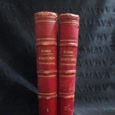 Libros de segunda mano: TRATADO DE ANATOMIA TOPOGRAFICA APLICADA A LA CIRUGIA POR P.TILLAUX. 2 TOMOS.. Lote 131616146