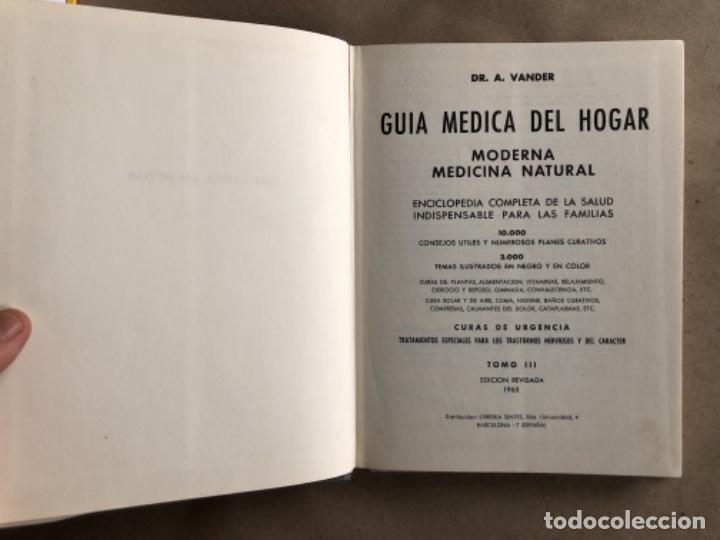 Libros de segunda mano: GUÍA MÉDICA DEL HOGAR. Dr. VANDER. MODERNA MEDICINA NATURAL. 3 TOMOS. TAPA DURA CON SOBRECUBIERTA. - Foto 10 - 178126755