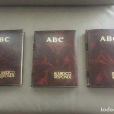 Libros de segunda mano: EL MÉDICO RESPONDE - 3 TOMOS - COMPLETOS ENCUADERNADOS DE ABC. Lote 132895238