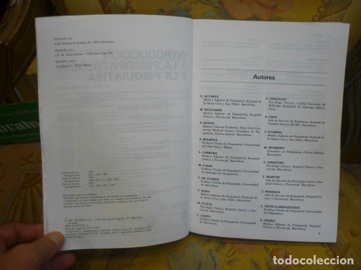 Libros de segunda mano: INTRODUCCIÓN A LA PSICOPATOLOGÍA Y LA PSIQUIATRÍA, DE J. VALLEJO RUILOBA. - Foto 4 - 133246090