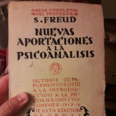 Libros de segunda mano: NUEVAS APORTACIONES AL PSICOANALISIS, FREUD. BIBLIOTECA NUEVA, 1934. Lote 133426450