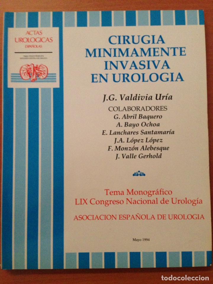 CIRUGÍA MÍNIMAMENTE INVASORA EN UROLOGÍA (Libros de Segunda Mano - Ciencias, Manuales y Oficios - Medicina, Farmacia y Salud)