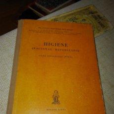 Libros de segunda mano: JULIO NAVARRO MALBRÁN. HIGIENE RACIONAL METODIZADA PARA ENSEÑANZA MEDIA. BUENOS AIRES. 1943.. Lote 135535834