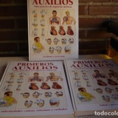 Libros de segunda mano: PRIMEROS AUXILIOS 3 VOLUMENES - ATLAS PRACTICO DE URGENCIAS . Lote 137120434