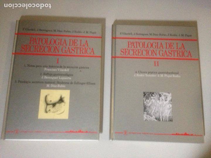 LOTE DE TOMOS I Y II DE PATOLOGÍA DE SECRECIÓN GASTRICA (Libros de Segunda Mano - Ciencias, Manuales y Oficios - Medicina, Farmacia y Salud)