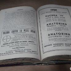 Libros de segunda mano: VETERINARIA REVISTA TÉCNICA MENSUAL AÑO 1950 COMPLETO. Lote 139238782