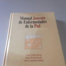 Libros de segunda mano: MANUAL JANSSEN DE ENFERMEDADES DE LA PIEL. CARLOS GUILLÉN BARONA. MASSON. Lote 139357824