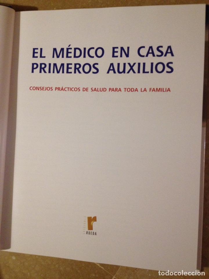 Libros de segunda mano: El médico en casa. Primeros auxilios. Consejos prácticos de salud para toda la familia (Edic. Rueda) - Foto 2 - 140253370