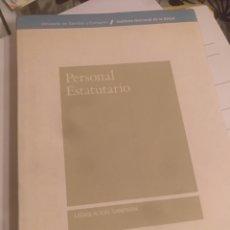 Libros de segunda mano: PERSONAL ESTATUTARIO INSALUD 1988 830 PAG. Lote 140525857