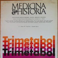 Libros de segunda mano: REVISTA N°2 MEDICINA E HISTORIA 1971. Lote 142136884