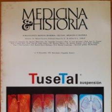 Libros de segunda mano: REVISTA N°8 MEDICINA E HISTORIA 1971. Lote 142137162