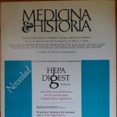 Libros de segunda mano: REVISTA N°13 MEDICINA E HISTORIA 1972. Lote 142137386