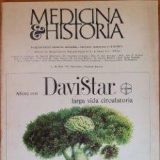 Libros de segunda mano: REVISTA N°23 MEDICINA E HISTORIA 1973. Lote 142137606