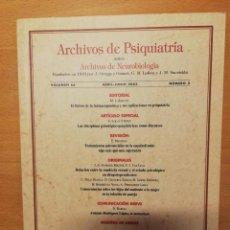 Libros de segunda mano: ARCHIVOS DE PSIQUIATRIA (VOLUMEN 66, ABRIL - JUNIO 2003, NUMERO 2). Lote 142474570