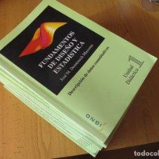 Libros de segunda mano: FUNDAMENTOS DE DISEÑO Y ESTADÍSTICA (15 LIBROS) + TABLAS ( ESPECIAL MEDICINA ).- J.M. DOMENECH M.. Lote 143174550
