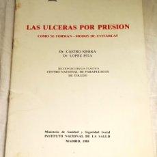 Libros de segunda mano: LAS ÚLCERAS POR PRESIÓN, COMO SE FORMAN-MODOS DE EVITARLAS; DR. CASTRO SIERRA, LÓPEZ PITA - 1980. Lote 144000954