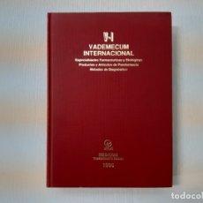 Libros de segunda mano: VADEMECUM INTERNACIONAL, 1995 : ESPECIALIDADES FARMACEUTICAS - VIKTOR PEUSKER Y OTROS. Lote 144183602