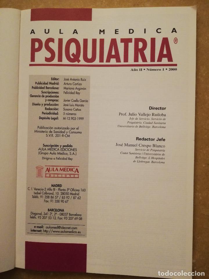 Libros de segunda mano: AULA MEDICA PSIQUIATRIA Nº 1 (2000) NEUROPSIQUIATRIA / TRASTORNOS AFECTIVOS / TRASTORNOS NEURÓTICOS - Foto 2 - 144850070