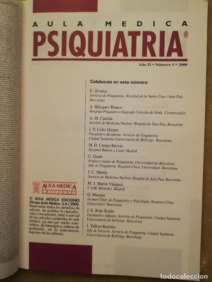 Libros de segunda mano: AULA MEDICA PSIQUIATRIA Nº 1 (2000) NEUROPSIQUIATRIA / TRASTORNOS AFECTIVOS / TRASTORNOS NEURÓTICOS - Foto 3 - 144850070