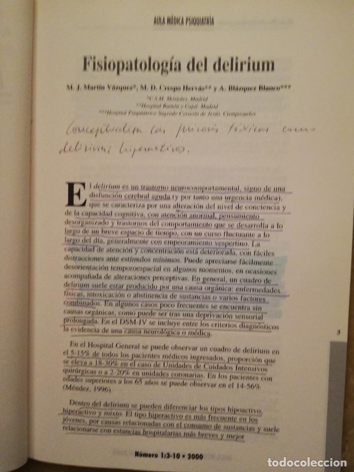 Libros de segunda mano: AULA MEDICA PSIQUIATRIA Nº 1 (2000) NEUROPSIQUIATRIA / TRASTORNOS AFECTIVOS / TRASTORNOS NEURÓTICOS - Foto 4 - 144850070