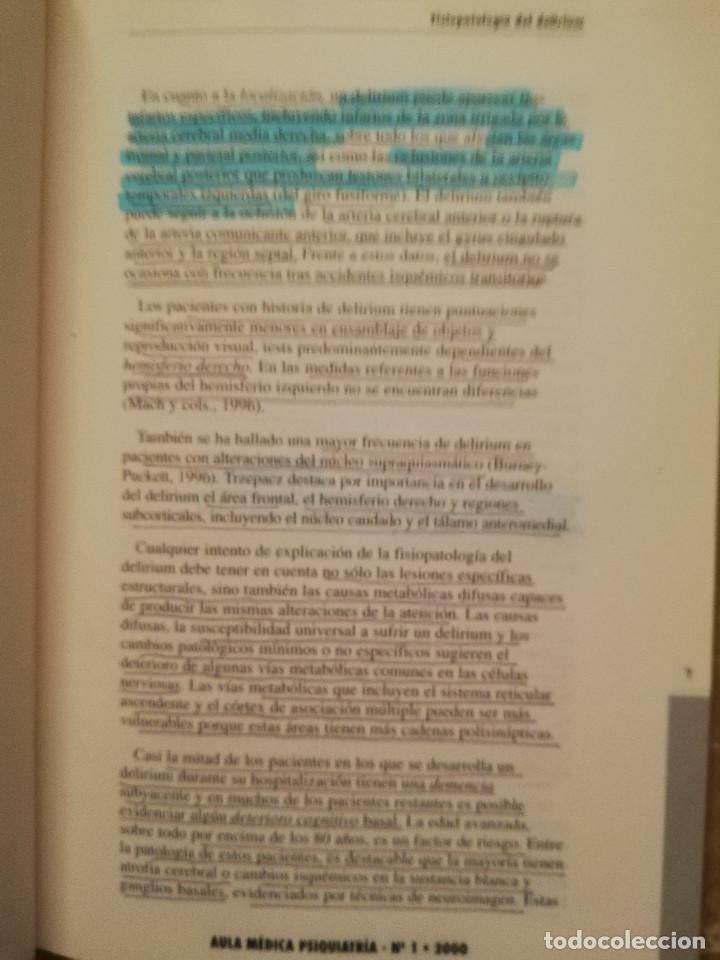 Libros de segunda mano: AULA MEDICA PSIQUIATRIA Nº 1 (2000) NEUROPSIQUIATRIA / TRASTORNOS AFECTIVOS / TRASTORNOS NEURÓTICOS - Foto 9 - 144850070