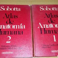 Libros de segunda mano: ATLAS DE ANATOMIA HUMANA. 2 VOLUMENES. SOBOTTA.. Lote 147211382