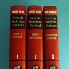 Libros de segunda mano: GUÍA DE MEDICINA NATURAL. 1. SALUD Y CURACIÓN. 2. PLANTAS MEDICINALES. 3. TRATAMIENTOS NATURALES.. Lote 147235038