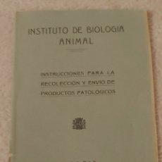 Libros de segunda mano: 1932. INSTITUTO DE BIOLOGÍA ANIMAL. Lote 147532576