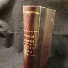 Libros de segunda mano: ANALES DE ANATOMIA VOL XXII 1973. Lote 147532974