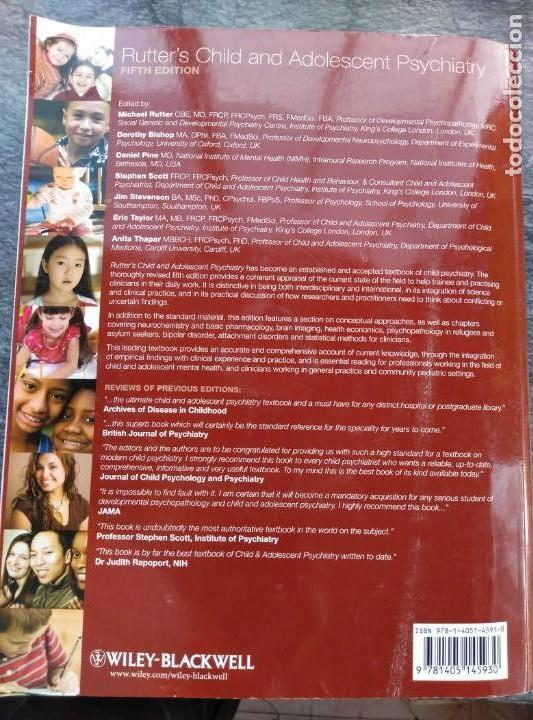 Libros de segunda mano: RUTTER'S CHILD AND ADOLESCENT PSYCHIATRY,5 EDIC. INGLES.NUEVO CON CD. 1230PP.27X22 - Foto 2 - 147594598