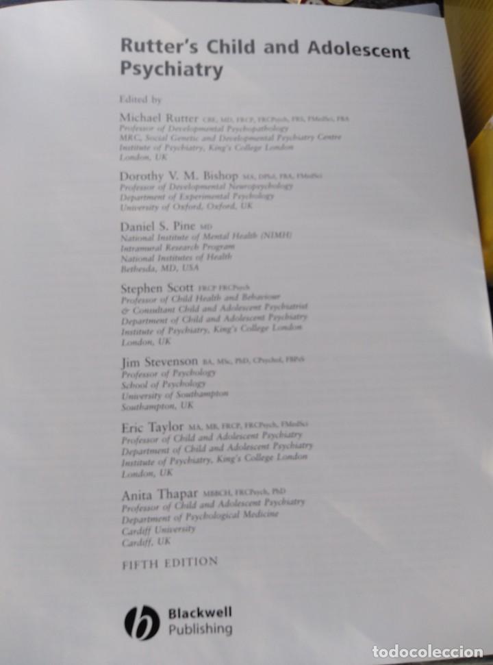 Libros de segunda mano: RUTTER'S CHILD AND ADOLESCENT PSYCHIATRY,5 EDIC. INGLES.NUEVO CON CD. 1230PP.27X22 - Foto 4 - 147594598