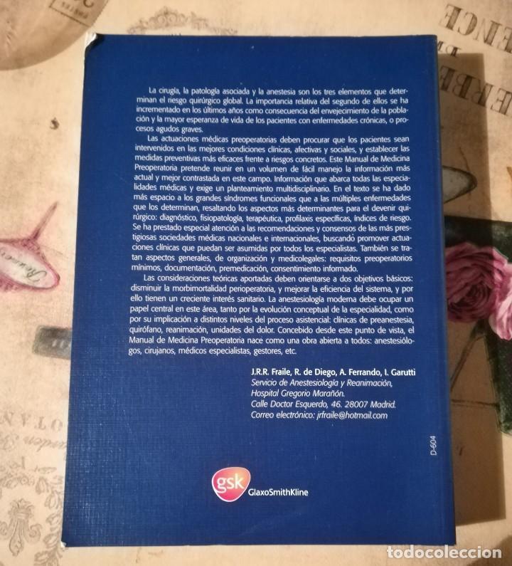 Libros de segunda mano: Manual de Medicina Preoperatoria - JR.R. Fraile / R. de Diego / A. Ferrando / I. Garutti - 2ª edició - Foto 2 - 148534402