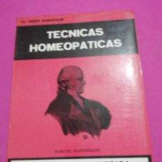 Libros de segunda mano: DR. DENIS DEMARQUE, TECNICAS HOMEOPATÍCAS. Lote 194774433